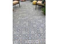 Blue ceramic Moroccan floor/wall tiles