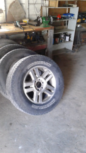 Four Ford F150 Wheels