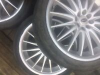 """18"""" Alloy Wheels (x4) All Tyres require replacing"""