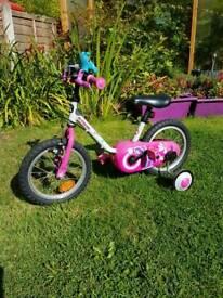 B'twin 14inch kids bike