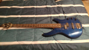 Bass, pedal, and combo amp