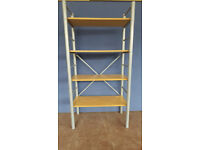 GREY SHELF UNIT, L: 705MM, W: 360MM, H: 1385MM