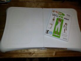 Nintendo Wii Fit comes complete with balance board.