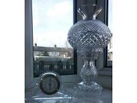 Waterford Crystal Lamp and Clock for sale