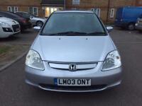 Honda civic 2003 1.6 petrol Automatic, Mileage 60000, Long MOT ••£1350••