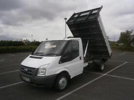 2008 08 FORD TRANSIT 2.4 TDCI 115PS 350 MWB TIPPER PICK UP TRUCK FLATBED WHITE