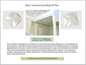 Décor and Sound proofing 3D Tiles.
