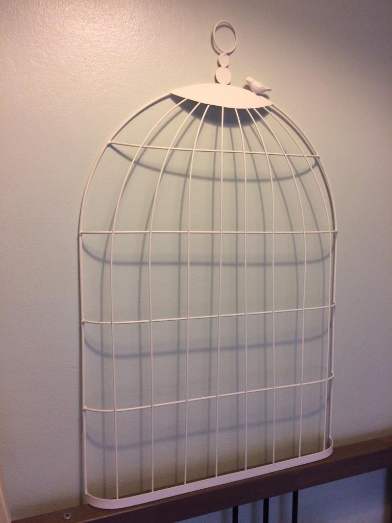 Metal bird cage display (wedding)