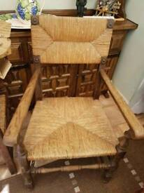 2 x French oak carver chairs
