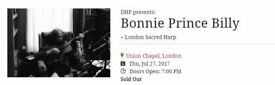SOLD - 2 x BONNIE PRINCE BILLY TICKETS - THURSDAY 27th JULY