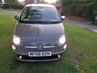 2008 Fiat 500 1.4 16v Sport 3dr [1 LADY OWNER+LEATHER+PHONE+FSH+WARRANTY]