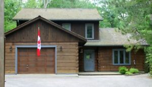 TRUE NORTH LOG HOME with Deeded Beach Rights - GRAND BEND