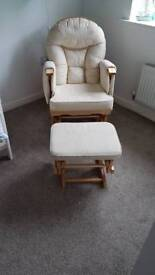 Rocking chair with footstool
