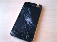 iPhone 4 with cracked screen