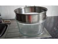 Halogen oven glass bowl & extention ring