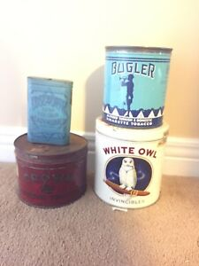 Lot of Tobacca Tins