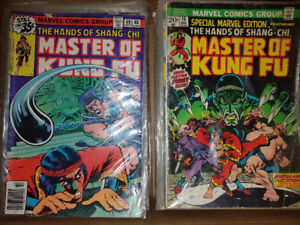 MASTER OF KUNG FU 80 COMICS, INCLUDING FIRST APPEARANCE