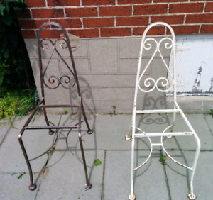 Vintage Wrought Iron Chairs Midcentury Modern