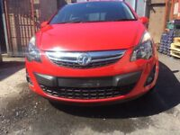 BREAKING - VAUXHALL CORSA D - FACELIFT FRONT BUMPER - RED - ALL PARTS AVAILABLE