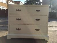 Large hand painted chest of drawer in duck egg blue