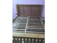 Solid oak king size bedframe