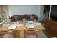 Folding Dining table and 6 folding chairs