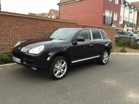 Porsche Cayenne 4.5 S Triptronic (2005/05 Reg) + HIGH SPEC + BASALT BLACK+SAT NAV+SUNROOF +HPI CLEAR