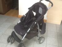 Graco pushchair with raincover (which alone new costs£25) -used and in full working order-£30