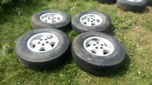 Jeep rims and tires summer and winter radials