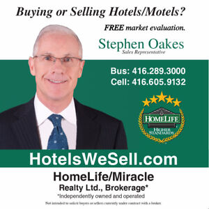 41 Room Franchise Motel For Sale + Extra Income East Of Toronto.