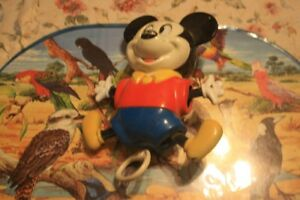 mickey mouse old cradle musical toy