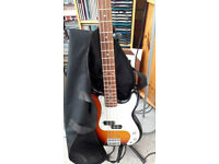 Encore bass guitar and amp,good condition, no marks, genuine reason for sale