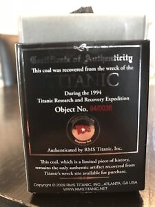 Authentic Titanic Coal