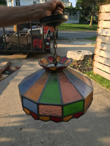 Vintage stained glass ceiling  light