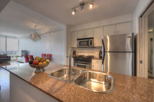 Modern & Bright One Bedroom + Den Condo for Rent