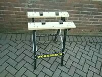 WORKMATE ADJUSTABLE WIDTH CLAMPS WORK BENCH ONLY 6 MONTHS OLD