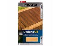 NATURAL OAK DECKING OIL 5L - RONSEAL BRAND