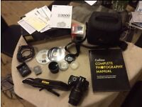 *NIKON D3000 WITH 2 LENSES & ACCESSORIES*