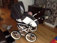Pram Set ..3 in 1 system with Pram..push chair and car seat..plus accessory bag.