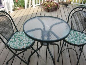 Patio Table & 2 Matching Chairs