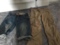 Men's Superdry trousers & Jean Shorts -Large