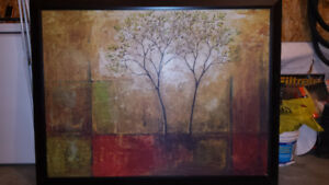 Large Colored Tree Painting