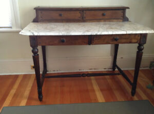 Antique Marble-topped Desk