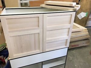 Two bathroom vanity cabinets (miscuts)