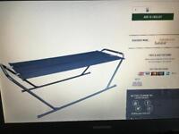 """""""Brand New"""" still in box Argos Malibu Metal Framed Hammock R.R.P £40"""