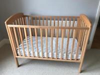 Wooden bedside cot