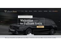 Taxi Website published on domain name Fulham-Taxis with online booking system