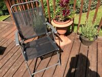 Black Foldable Garden Chairs x 4