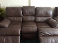 Reclining 3 seated sofa and 2 reclining chairs