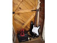 Prolectrix Electric Guitar,long jack lead,and Ashton GA10 guitar Amplifier.